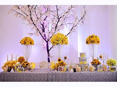 -24h chuyên dịch vụ cưới hỏi: trang trí nhà đám cưới hỏi, nhà hàng tiệc cưới, nhân sự bưng mâm quả, cổng hoa, xe hoa, cắt dán chữ và tin tức cưới hỏi: đám cưới sao, lập kế hoạch cưới, làm đẹp ngày cưới- Tiệc cưới Sài Gòn nổi bật với màu vàng - ghi