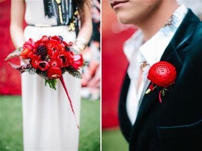 -24h chuyên dịch vụ cưới hỏi: trang trí nhà đám cưới hỏi, nhà hàng tiệc cưới, nhân sự bưng mâm quả, cổng hoa, xe hoa, cắt dán chữ và tin tức cưới hỏi: đám cưới sao, lập kế hoạch cưới, làm đẹp ngày cưới- Hoa cưới màu đỏ rực rỡ như đốm lửa