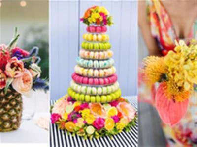 -24h chuyên dịch vụ cưới hỏi: trang trí nhà đám cưới hỏi, nhà hàng tiệc cưới, nhân sự bưng mâm quả, cổng hoa, xe hoa, cắt dán chữ và tin tức cưới hỏi: đám cưới sao, lập kế hoạch cưới, làm đẹp ngày cưới- Mang sắc màu mùa hè nhiệt đới vào đám cưới