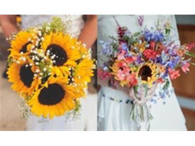 -24h chuyên dịch vụ cưới hỏi: trang trí nhà đám cưới hỏi, nhà hàng tiệc cưới, nhân sự bưng mâm quả, cổng hoa, xe hoa, cắt dán chữ và tin tức cưới hỏi: đám cưới sao, lập kế hoạch cưới, làm đẹp ngày cưới- 21 bó hướng dương rực rỡ cho đám cưới mùa hè