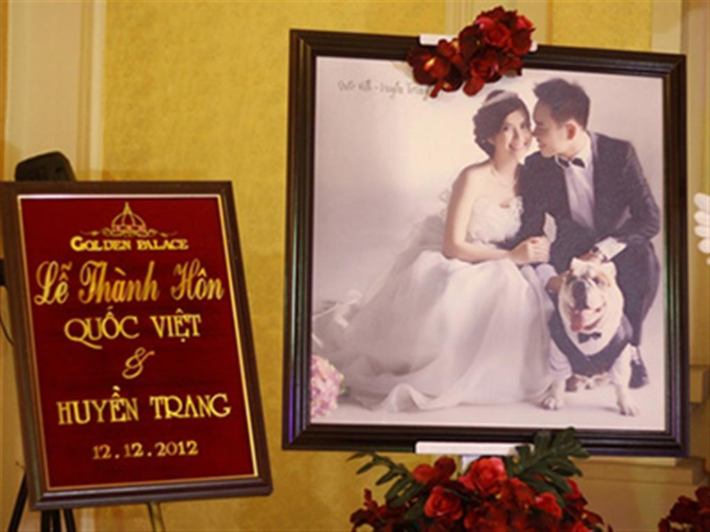 -24h chuyên dịch vụ cưới hỏi: trang trí nhà đám cưới hỏi, nhà hàng tiệc cưới, nhân sự bưng mâm quả, cổng hoa, xe hoa, cắt dán chữ và tin tức cưới hỏi: đám cưới sao, lập kế hoạch cưới, làm đẹp ngày cưới- Khung cảnh tiệc cưới tinh tế của Huyền Trang