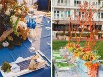 -24h chuyên dịch vụ cưới hỏi: trang trí nhà đám cưới hỏi, nhà hàng tiệc cưới, nhân sự bưng mâm quả, cổng hoa, xe hoa, cắt dán chữ và tin tức cưới hỏi: đám cưới sao, lập kế hoạch cưới, làm đẹp ngày cưới- 4 mẫu bàn tiệc mang sắc xanh của biển