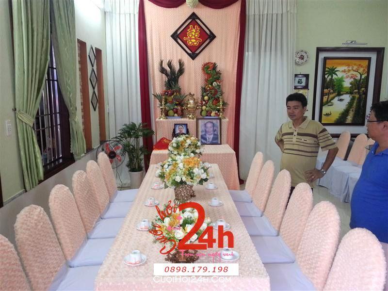 Dịch vụ cưới hỏi 24h trọn vẹn ngày vui chuyên trang trí nhà đám cưới hỏi và nhà hàng tiệc cưới | Trang trí nhà cưới tông hồng nhạt trắng sang trọng