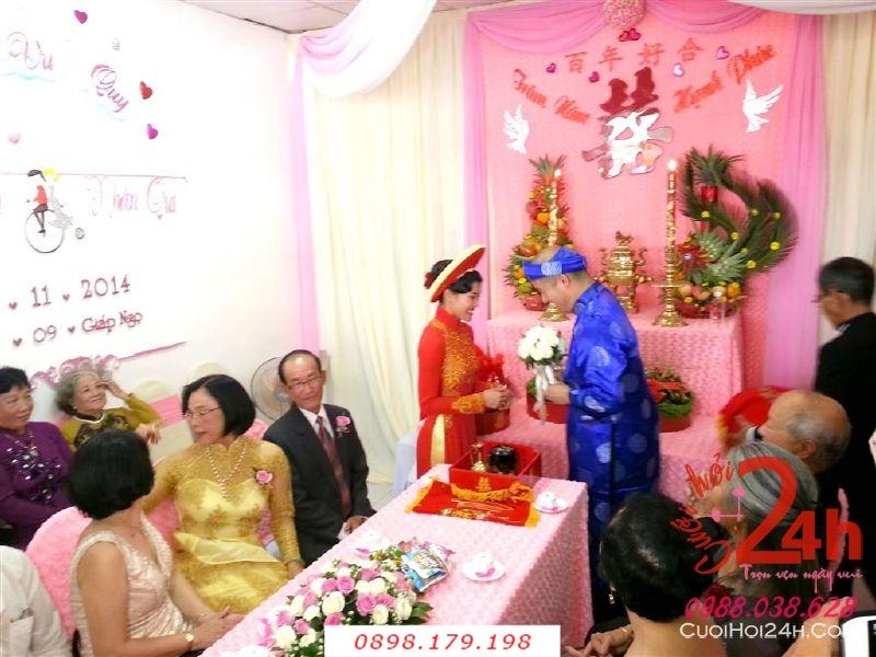 Dịch vụ cưới hỏi 24h trọn vẹn ngày vui chuyên trang trí nhà đám cưới hỏi và nhà hàng tiệc cưới | Cho thuê người đại diện hai họ nhà trai gái