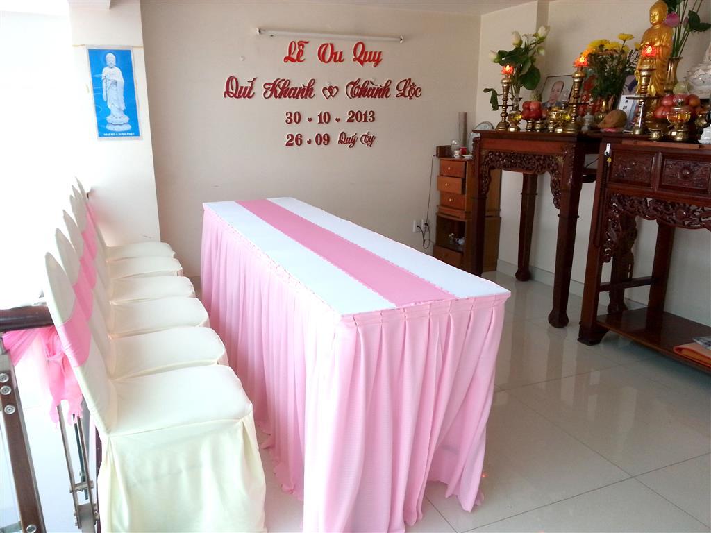 Dịch vụ cưới hỏi 24h trọn vẹn ngày vui chuyên trang trí nhà đám cưới hỏi và nhà hàng tiệc cưới | Trang trí nhà cưới hỏi tông hồng mẫu 2