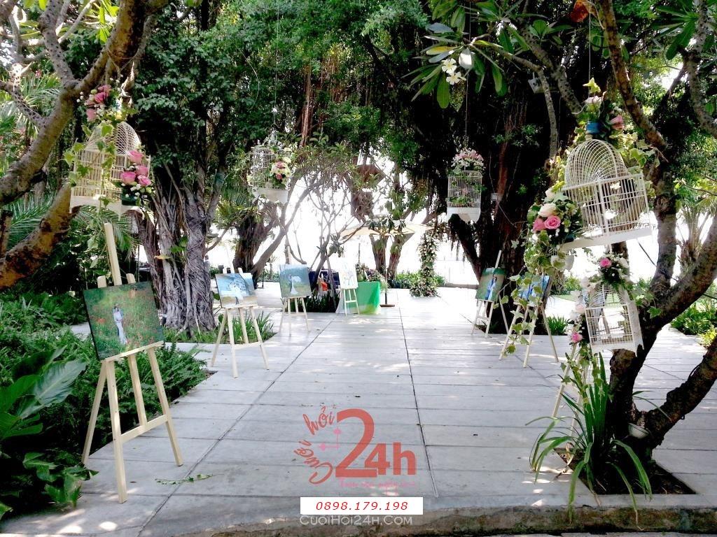 Dịch vụ cưới hỏi 24h trọn vẹn ngày vui chuyên trang trí nhà đám cưới hỏi và nhà hàng tiệc cưới | Dịch vụ trang trí không gian tiệc cưới nhà hàng xanh mướt