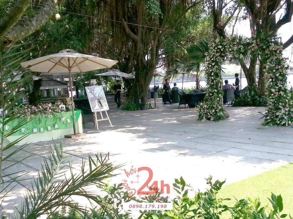 Dịch vụ cưới hỏi 24h trọn vẹn ngày vui chuyên trang trí nhà đám cưới hỏi và nhà hàng tiệc cưới | Mẫu trang trí tiệc cưới ngoài trời chủ đề thiên nhiên