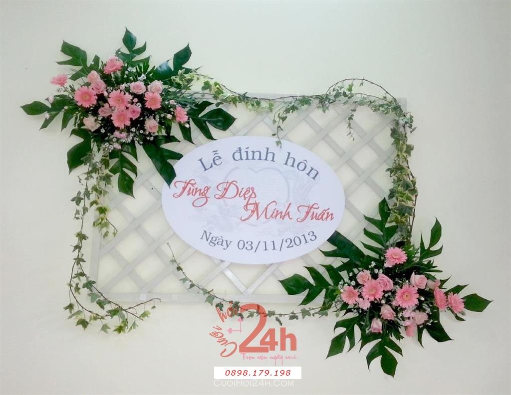 Dịch vụ cưới hỏi 24h trọn vẹn ngày vui chuyên trang trí nhà đám cưới hỏi và nhà hàng tiệc cưới | Cắt dán chữ kết hoa đặc biệt