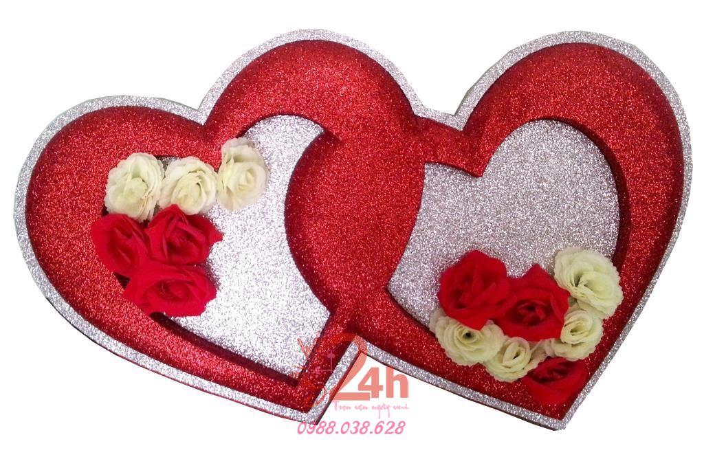 Dịch vụ cưới hỏi 24h trọn vẹn ngày vui chuyên trang trí nhà đám cưới hỏi và nhà hàng tiệc cưới | Cắt dán chữ xốp hình trái tim