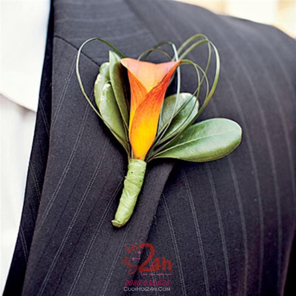 Dịch vụ cưới hỏi 24h trọn vẹn ngày vui chuyên trang trí nhà đám cưới hỏi và nhà hàng tiệc cưới | Hoa cài áo cưới hỏi 03