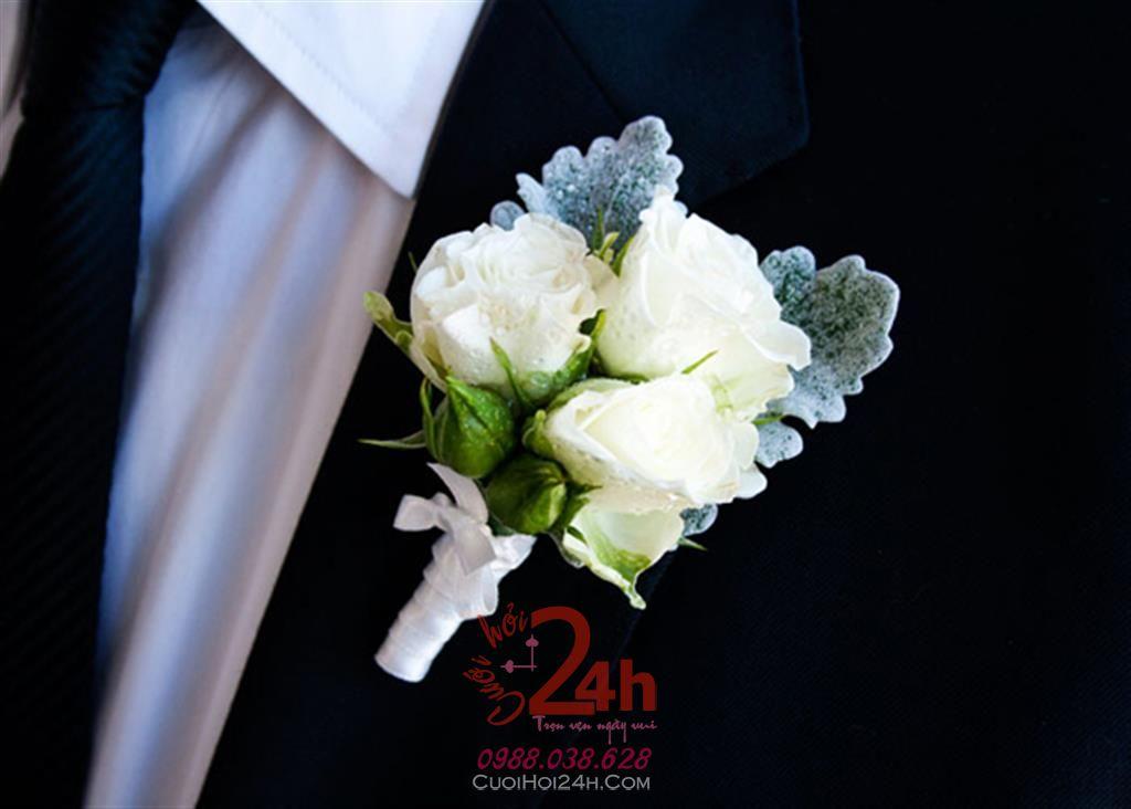 Dịch vụ cưới hỏi 24h trọn vẹn ngày vui chuyên trang trí nhà đám cưới hỏi và nhà hàng tiệc cưới | Hoa cài áo cưới hỏi 04