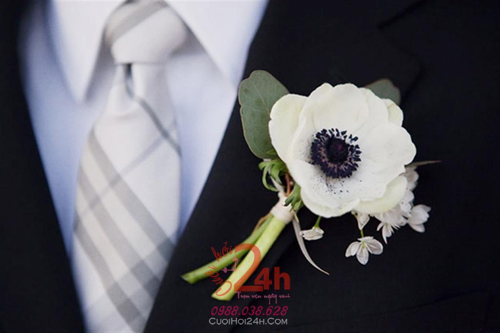 Dịch vụ cưới hỏi 24h trọn vẹn ngày vui chuyên trang trí nhà đám cưới hỏi và nhà hàng tiệc cưới | Hoa cài áo cưới hỏi 05