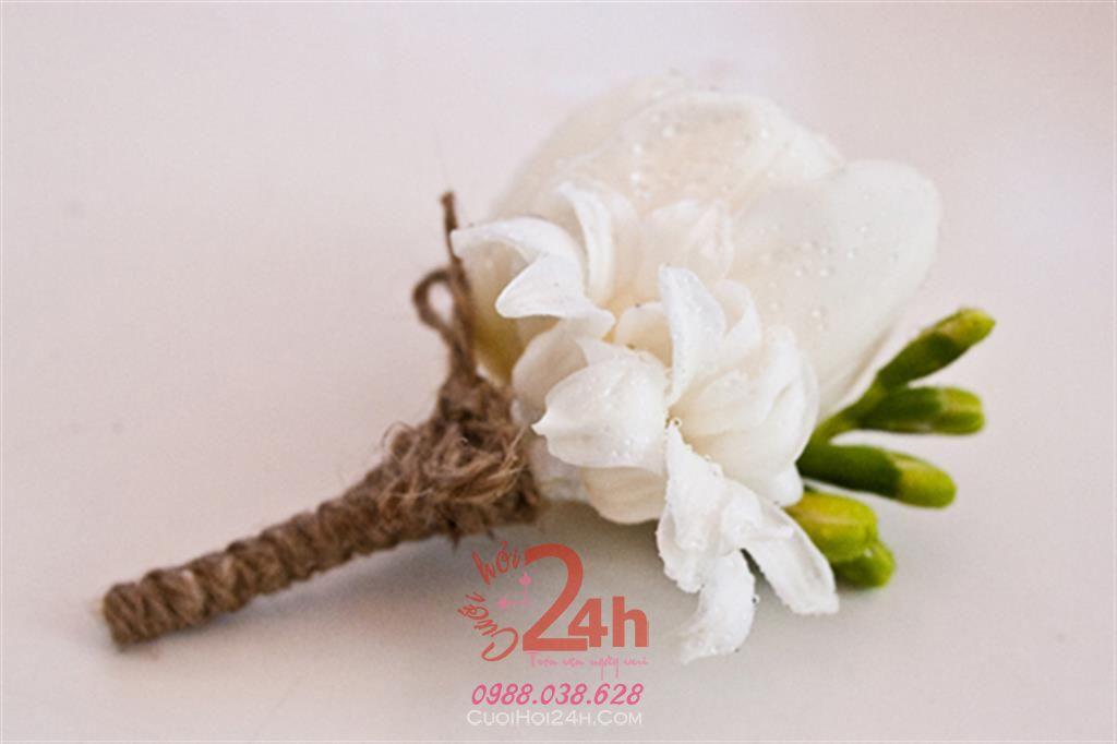 Dịch vụ cưới hỏi 24h trọn vẹn ngày vui chuyên trang trí nhà đám cưới hỏi và nhà hàng tiệc cưới | Hoa cài áo cưới hỏi 06