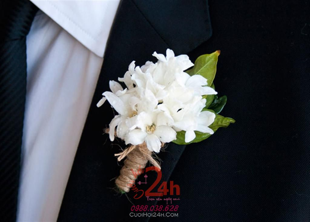 Dịch vụ cưới hỏi 24h trọn vẹn ngày vui chuyên trang trí nhà đám cưới hỏi và nhà hàng tiệc cưới | Hoa cài áo cưới hỏi 07
