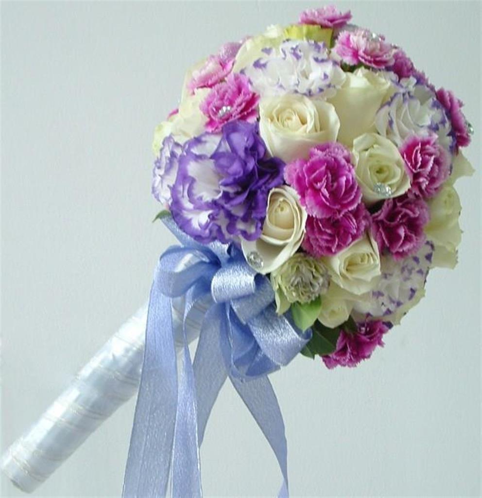 Dịch vụ cưới hỏi 24h trọn vẹn ngày vui chuyên trang trí nhà đám cưới hỏi và nhà hàng tiệc cưới | Hoa cầm tay cô dâu tổng hợp nhiều màu sắc