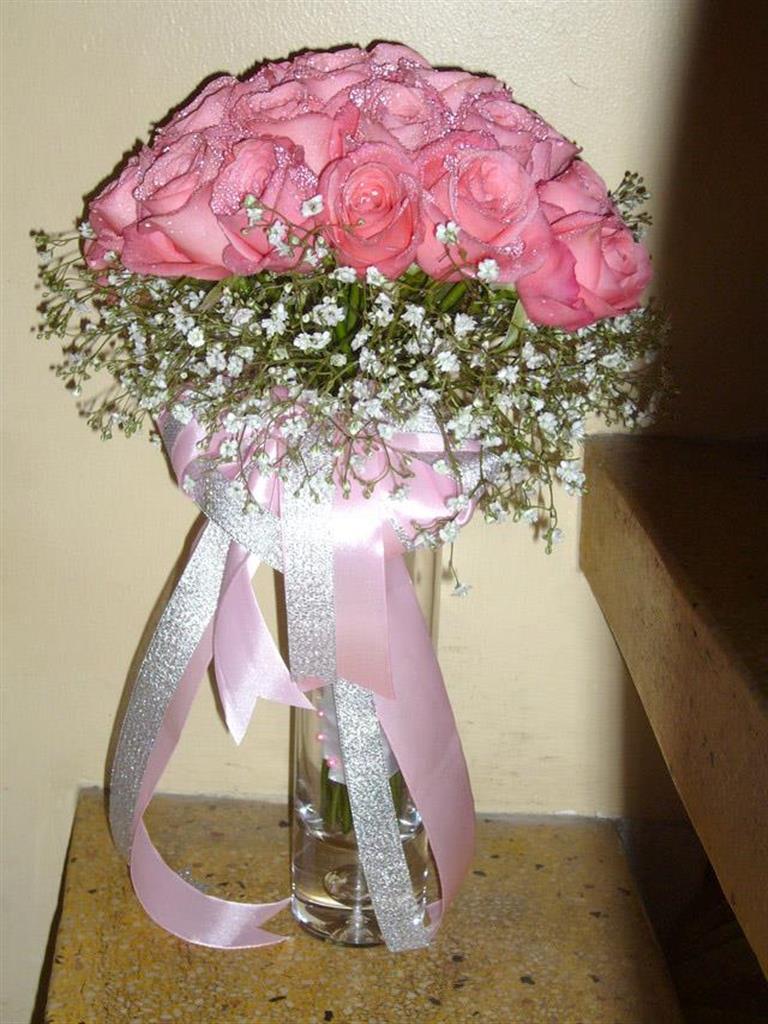 Dịch vụ cưới hỏi 24h trọn vẹn ngày vui chuyên trang trí nhà đám cưới hỏi và nhà hàng tiệc cưới | Hoa hồng bó tròn