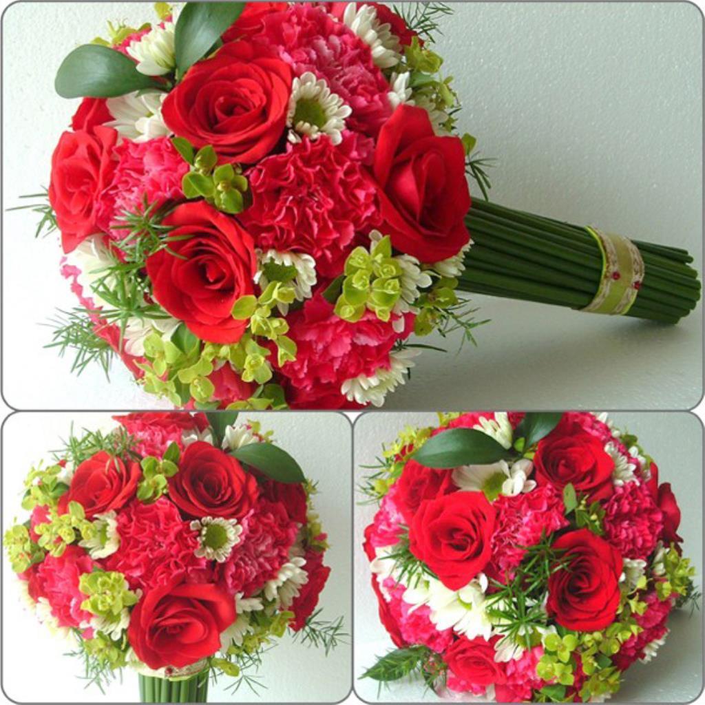 Dịch vụ cưới hỏi 24h trọn vẹn ngày vui chuyên trang trí nhà đám cưới hỏi và nhà hàng tiệc cưới | Hoa hồng đỏ và hoa cúc trắng