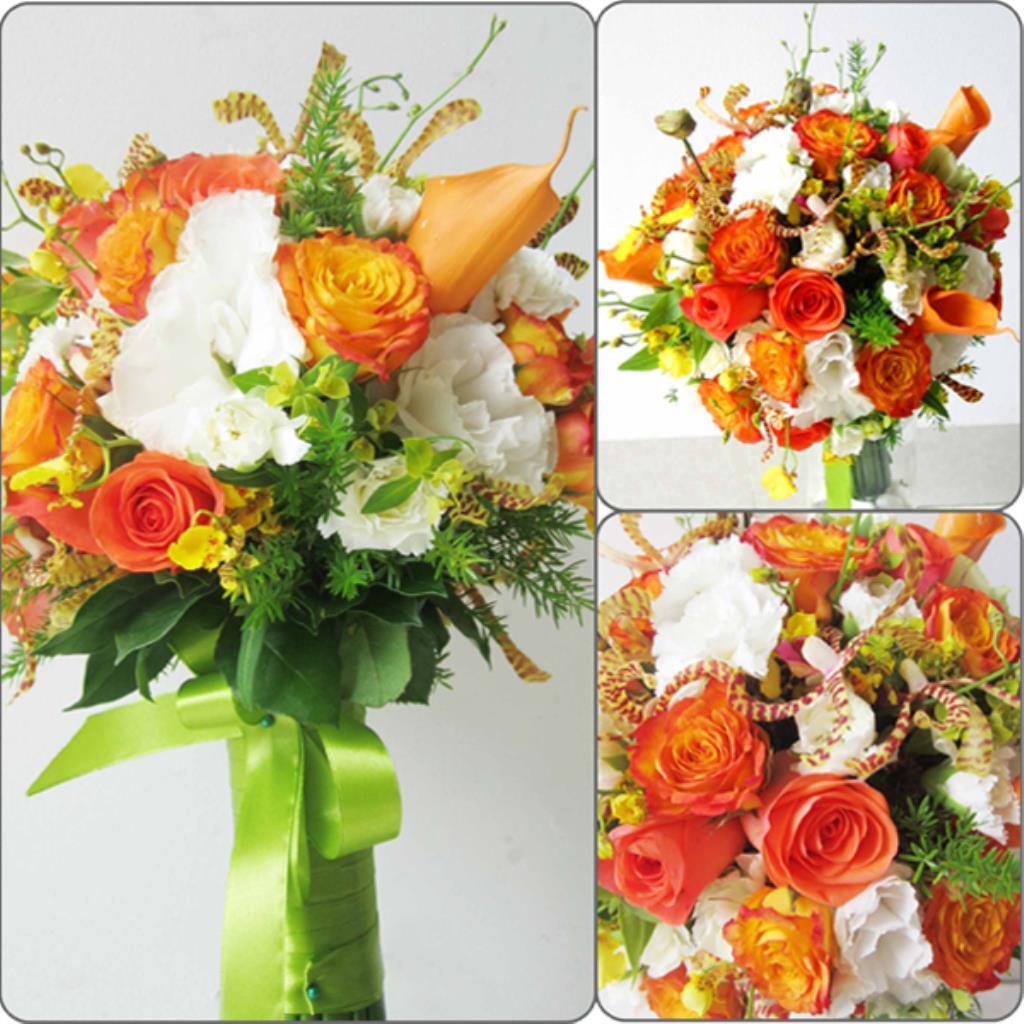 Dịch vụ cưới hỏi 24h trọn vẹn ngày vui chuyên trang trí nhà đám cưới hỏi và nhà hàng tiệc cưới | Hoa hồng tông màu sặc sở