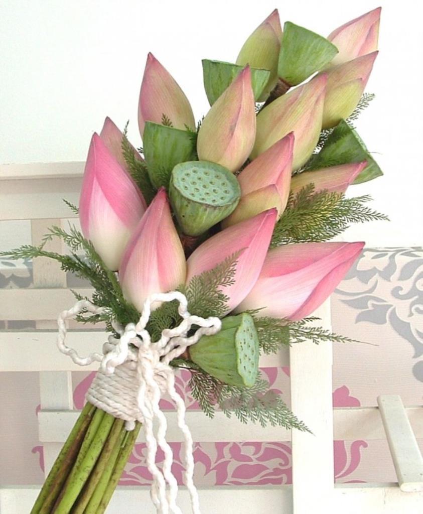 Dịch vụ cưới hỏi 24h trọn vẹn ngày vui chuyên trang trí nhà đám cưới hỏi và nhà hàng tiệc cưới | Hoa sen và bó tròn