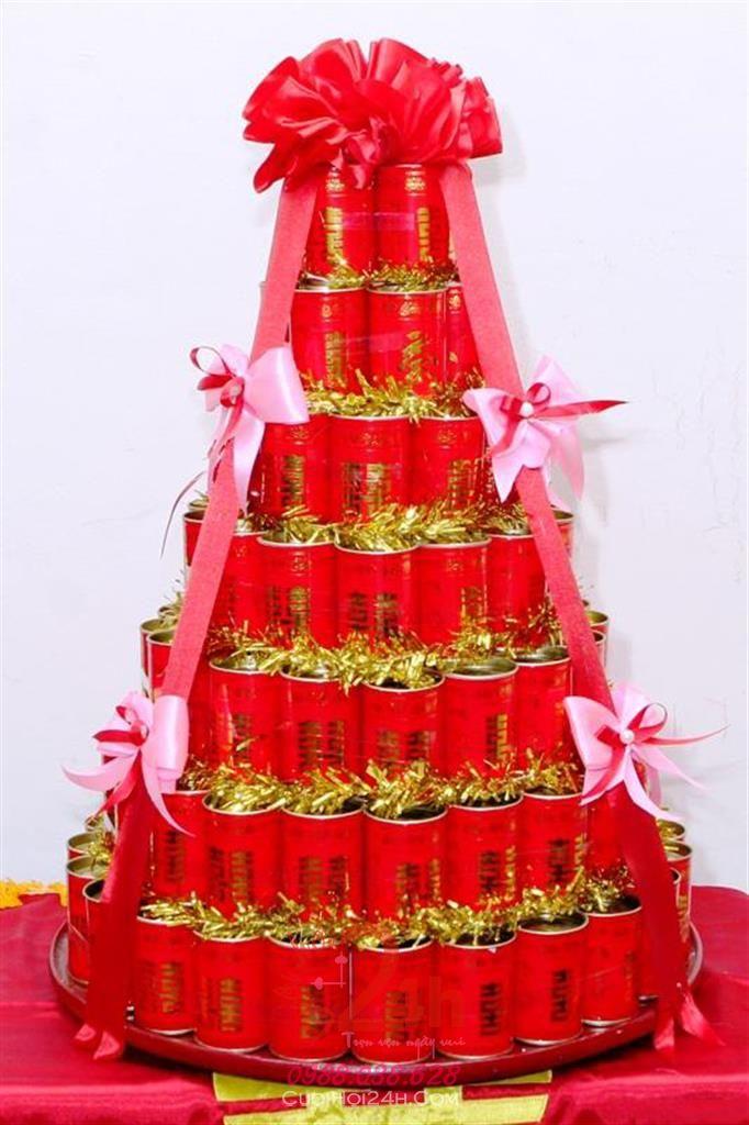 Dịch vụ cưới hỏi 24h trọn vẹn ngày vui chuyên trang trí nhà đám cưới hỏi và nhà hàng tiệc cưới | Mâm quả cưới hỏi trà hình tháp sang trọng