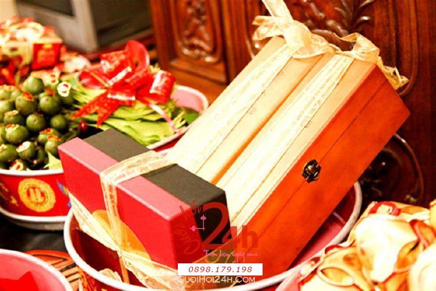 Dịch vụ cưới hỏi 24h trọn vẹn ngày vui chuyên trang trí nhà đám cưới hỏi và nhà hàng tiệc cưới | Mâm quả lễ vật cưới hỏi trà rượu bóng đẹp
