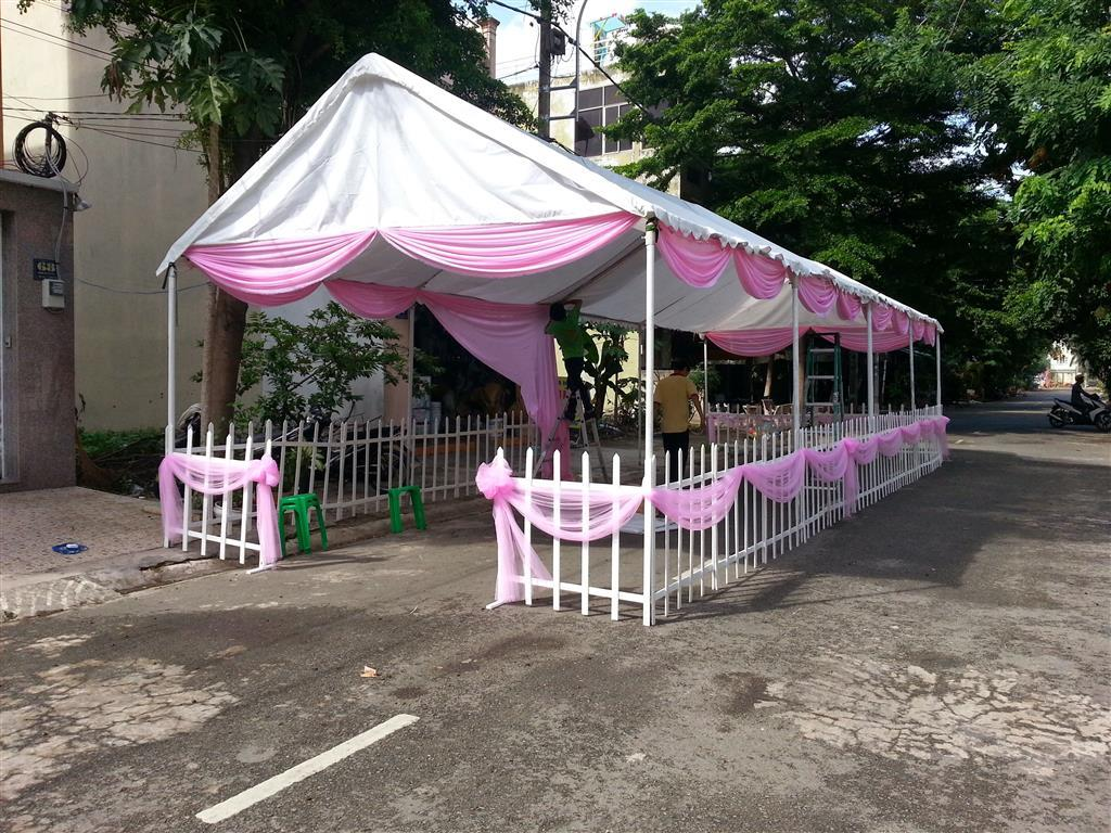 Dịch vụ cưới hỏi 24h trọn vẹn ngày vui chuyên trang trí nhà đám cưới hỏi và nhà hàng tiệc cưới | Nhà bạt, khung rạp