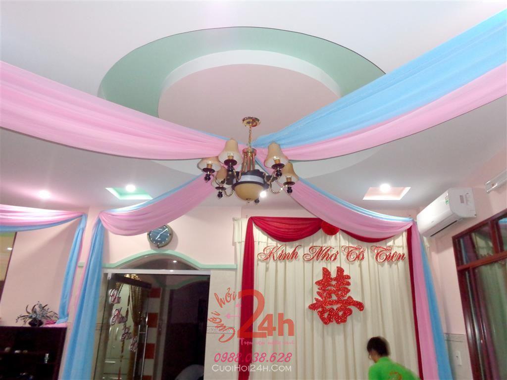 Dịch vụ cưới hỏi 24h trọn vẹn ngày vui chuyên trang trí nhà đám cưới hỏi và nhà hàng tiệc cưới | Trang trí đèn chùm đẹp mắt