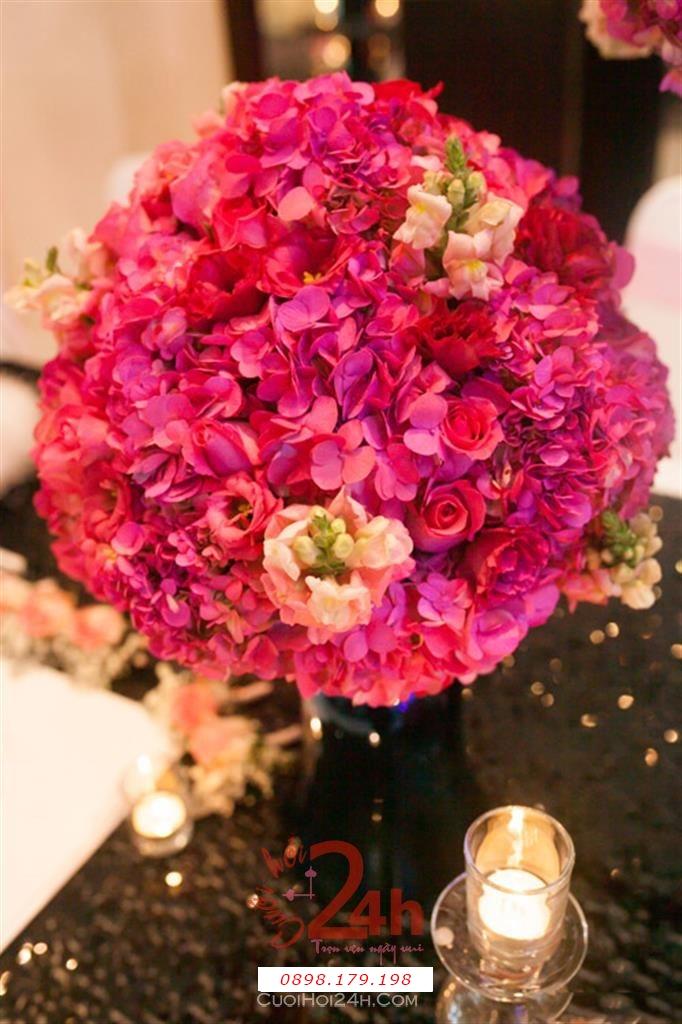 Dịch vụ cưới hỏi 24h trọn vẹn ngày vui chuyên trang trí nhà đám cưới hỏi và nhà hàng tiệc cưới | Trang trí không gian tiệc cưới 3