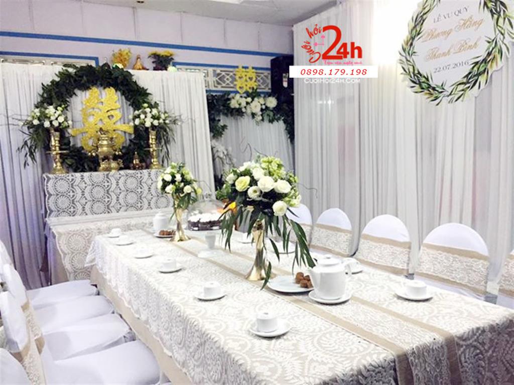 Dịch vụ cưới hỏi 24h trọn vẹn ngày vui chuyên trang trí nhà đám cưới hỏi và nhà hàng tiệc cưới | Trang trí nhà cưới phong cách rustic