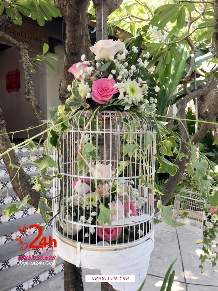Dịch vụ cưới hỏi 24h trọn vẹn ngày vui chuyên trang trí nhà đám cưới hỏi và nhà hàng tiệc cưới | Phụ kiện lồng hoa trang trí hoa tươi