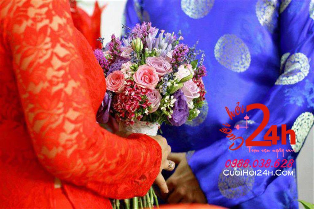 Dịch vụ cưới hỏi 24h trọn vẹn ngày vui chuyên trang trí nhà đám cưới hỏi và nhà hàng tiệc cưới | Dịch vụ cho thuê hoa cầm tay cô dâu ngày cưới