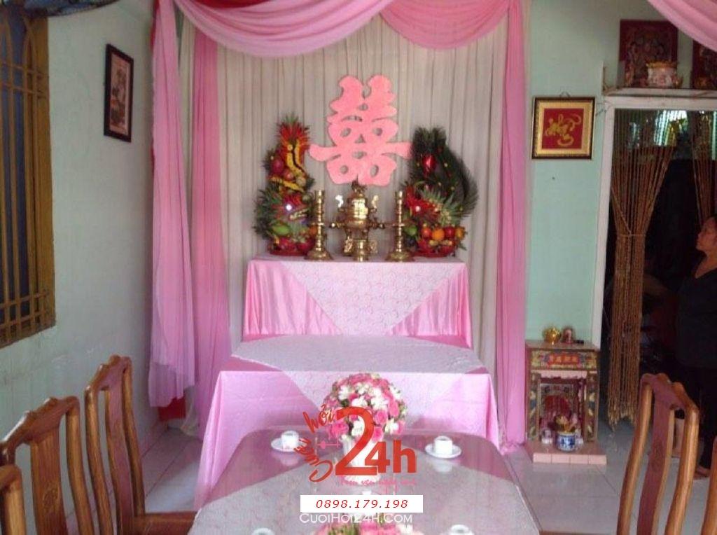 Dịch vụ cưới hỏi 24h trọn vẹn ngày vui chuyên trang trí nhà đám cưới hỏi và nhà hàng tiệc cưới | Trang trí nhà cưới tông hồng nhạt