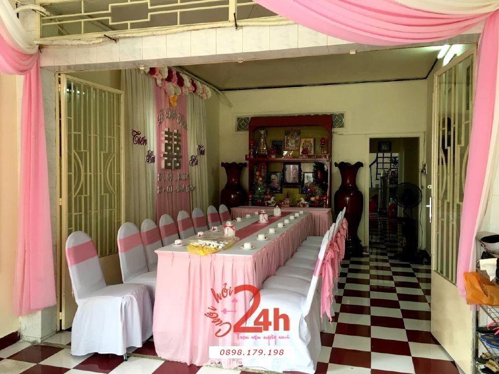 Dịch vụ cưới hỏi 24h trọn vẹn ngày vui chuyên trang trí nhà đám cưới hỏi và nhà hàng tiệc cưới | Trang trí nhà tông hồng thật dễ thương cho lễ đính hôn (2)