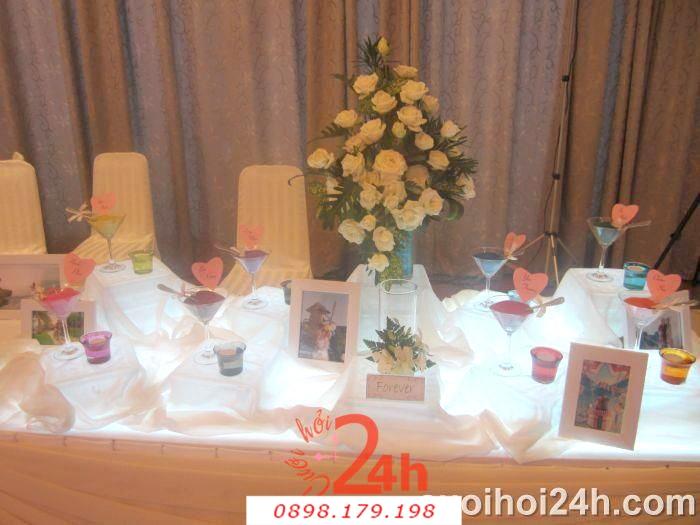 Dịch vụ cưới hỏi 24h trọn vẹn ngày vui chuyên trang trí nhà đám cưới hỏi và nhà hàng tiệc cưới | Hoa trang trí tiệc cưới 61