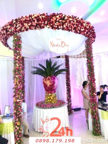 Dịch vụ cưới hỏi 24h trọn vẹn ngày vui chuyên trang trí nhà đám cưới hỏi và nhà hàng tiệc cưới | Hoa trang trí tiệc cưới