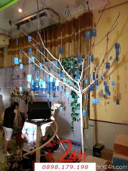 Dịch vụ cưới hỏi 24h trọn vẹn ngày vui chuyên trang trí nhà đám cưới hỏi và nhà hàng tiệc cưới | Cây thiệp
