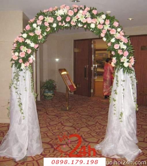 Dịch vụ cưới hỏi 24h trọn vẹn ngày vui chuyên trang trí nhà đám cưới hỏi và nhà hàng tiệc cưới | Cổng hoa tươi 27