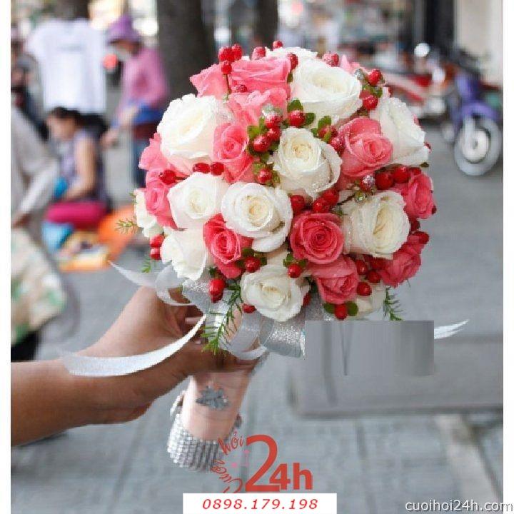 Dịch vụ cưới hỏi 24h trọn vẹn ngày vui chuyên trang trí nhà đám cưới hỏi và nhà hàng tiệc cưới | Hoa cầm tay cô dâu 139