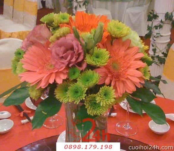 Dịch vụ cưới hỏi 24h trọn vẹn ngày vui chuyên trang trí nhà đám cưới hỏi và nhà hàng tiệc cưới | Hoa sự kiện khác 34