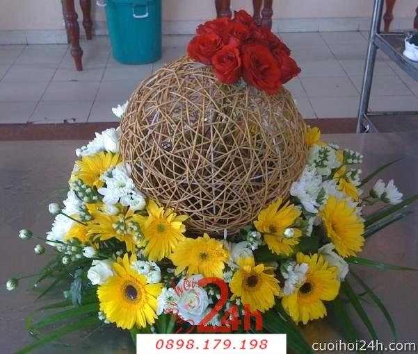 Dịch vụ cưới hỏi 24h trọn vẹn ngày vui chuyên trang trí nhà đám cưới hỏi và nhà hàng tiệc cưới | Hoa sự kiện khác 35