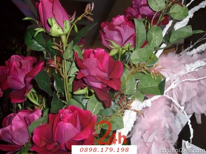 Dịch vụ cưới hỏi 24h trọn vẹn ngày vui chuyên trang trí nhà đám cưới hỏi và nhà hàng tiệc cưới | Hoa sự kiện khác 53