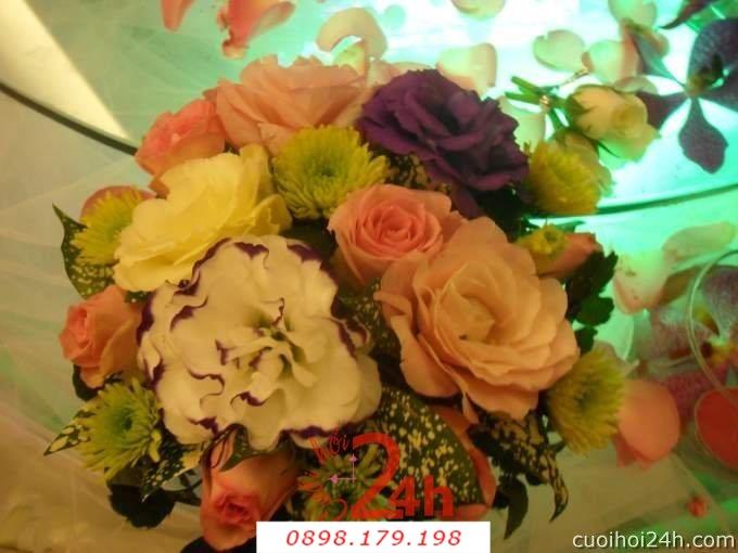 Dịch vụ cưới hỏi 24h trọn vẹn ngày vui chuyên trang trí nhà đám cưới hỏi và nhà hàng tiệc cưới | Hoa sự kiện khác 54