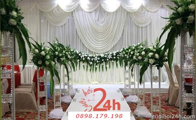 Dịch vụ cưới hỏi 24h trọn vẹn ngày vui chuyên trang trí nhà đám cưới hỏi và nhà hàng tiệc cưới | Hoa trang trí tiệc cưới 37
