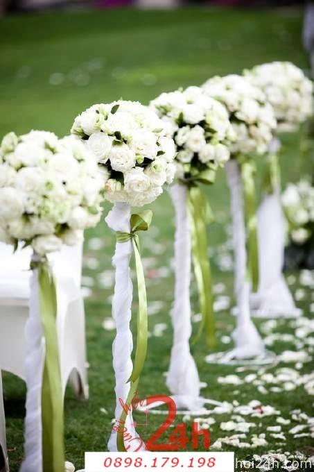 Dịch vụ cưới hỏi 24h trọn vẹn ngày vui chuyên trang trí nhà đám cưới hỏi và nhà hàng tiệc cưới | Hoa trang trí tiệc cưới 39