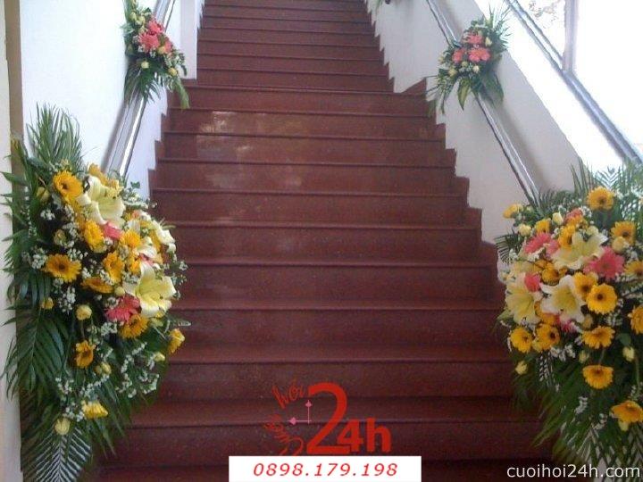 Dịch vụ cưới hỏi 24h trọn vẹn ngày vui chuyên trang trí nhà đám cưới hỏi và nhà hàng tiệc cưới | Hoa trang trí tiệc cưới 46