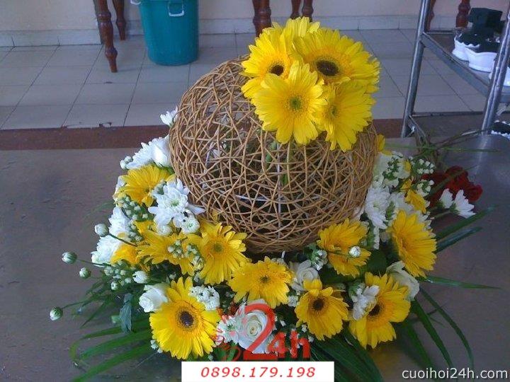 Dịch vụ cưới hỏi 24h trọn vẹn ngày vui chuyên trang trí nhà đám cưới hỏi và nhà hàng tiệc cưới | Hoa trang trí tiệc cưới 49