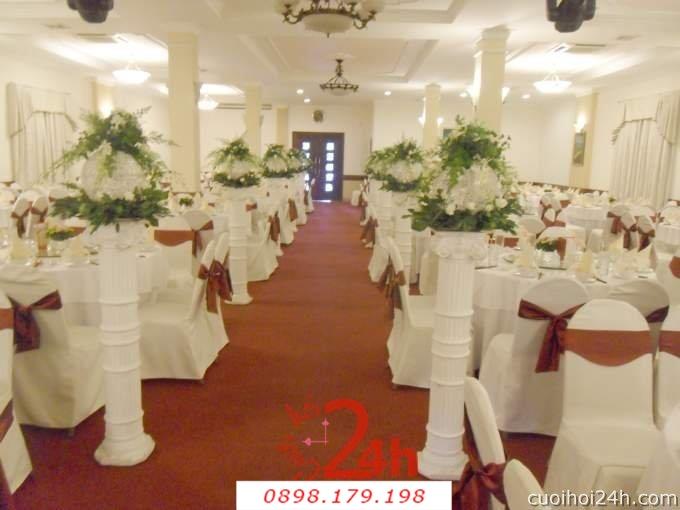 Dịch vụ cưới hỏi 24h trọn vẹn ngày vui chuyên trang trí nhà đám cưới hỏi và nhà hàng tiệc cưới | Trang trí nhà hàng 43