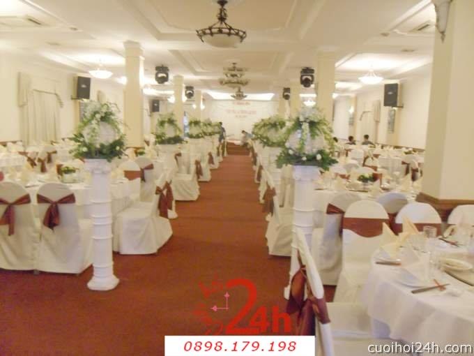 Dịch vụ cưới hỏi 24h trọn vẹn ngày vui chuyên trang trí nhà đám cưới hỏi và nhà hàng tiệc cưới | Trang trí nhà hàng 44