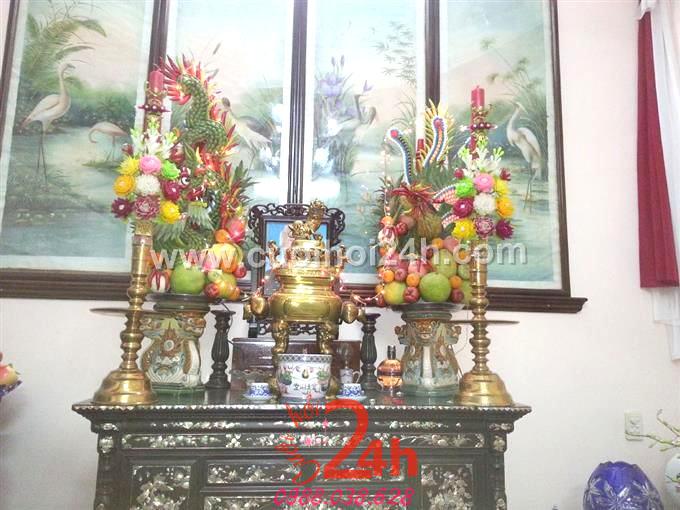 Dịch vụ cưới hỏi 24h trọn vẹn ngày vui chuyên trang trí nhà đám cưới hỏi và nhà hàng tiệc cưới | Trang trí bàn thờ truyền thống