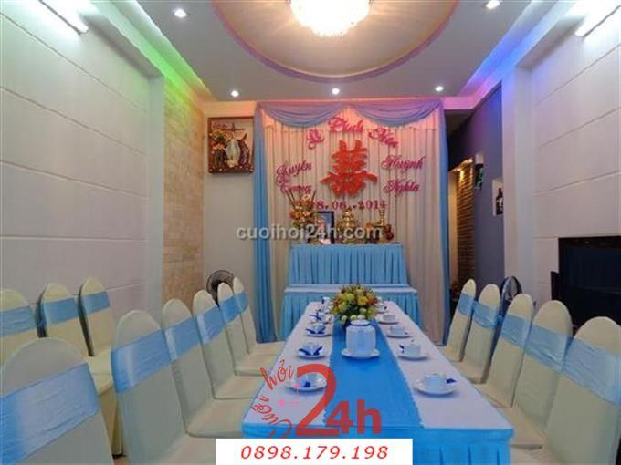 Dịch vụ cưới hỏi 24h trọn vẹn ngày vui chuyên trang trí nhà đám cưới hỏi và nhà hàng tiệc cưới | Trang trí nhà cưới hỏi